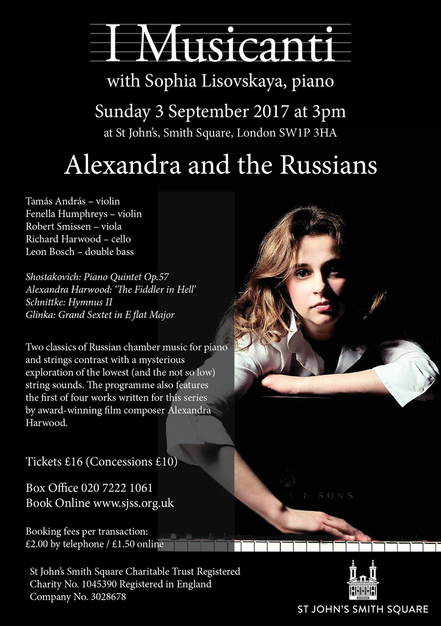 Sophia Lisovskaya joins I Musicanti for a programme including two Russian chamber classics for piano and strings.